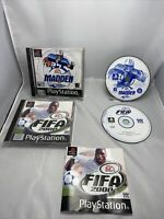 Madden 2001,fifa 2000 Ps1 Game Bundle Free P&p PlayStation One Games Bundle X2
