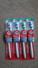 4 COLGATE 360 WHOLE MONTH CLEAN TOOTHBRUSH CHEEK & TONGUE CLEANER MED FULL HEAD