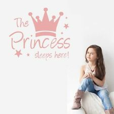 Vinyl Mural Princess's Sleep Here Lettering Wall Sticker Home Decal