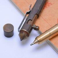 Tactical EDC Black Aviation Brass BodySelf-Defense Pen Clips Survival Milit Y5N2