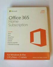 New Sealed Microsoft Office 365 Home 1 Yr Subscription Word Excel Outlook Access