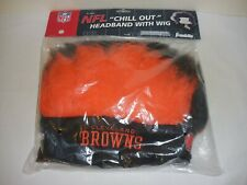 """Cleveland Browns """"Chill Out"""" NFL Headband with Wig  Franklin  NIP"""