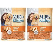 2 x Milo's Kitchen Chicken Jerky Strips Dog Treats 15 Oz each bag