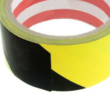 32.8Ft 10 Meters Black Yellow Floor Adhesive Safety Caution Tape SH