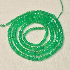 "1.8mm-4mm Colombian Emerald faceted Rondelles Beads 17"" Strand"