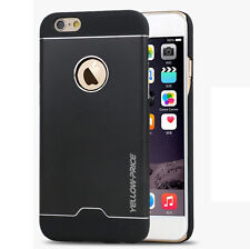 Ultra-Thin Aluminum Metal Back Case Rubberized PC Bumper Cover For iPhone 6 Plus