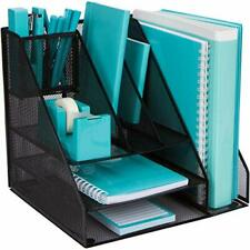 Office Supplies Desk Organizer - Desktop Organizer with 8 Compartments for