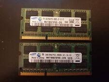 4GB ( 2 x 2GB ) PC3-8500 DDR3-1066 MHz Laptop RAM Sodimm Samsung