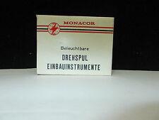 Drehspul Einbauinstrument, Gauge, Marke: Monacor, Anzeige: Mikro Ampere  #K-12-8