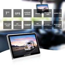 """GPS Navigation For Professional Truck Drivers 7"""" Inch Tablet Free Maps DVR SAT"""