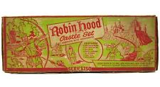 Vintage 1950's Marx Robin Hood Medieval English Castle Playset w/Box EX