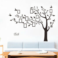 Family Tree Wall Decal Sticker Large Photo Picture Frame Vinyl Removable Decor