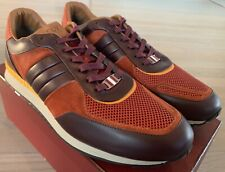 $700 Bally Ascar 03 Pumpkin Leather Sneakers size US 11 Made In Italy