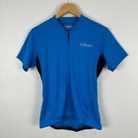 Bellwether Womens Cycling Jersey Medium Blue Short Sleeve Full Zip