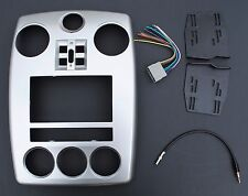Silver Double Din Dash Complete Kit Install Car Radio Stereo Fits PT Cruiser