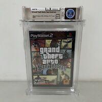GRAND THEFT AUTO SAN ANDREAS 2006 WATA 9.8 A++ SEALED! PS2 GTA UNCIRCULATED VGA