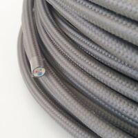Textilkabel, Stoffkabel, Textilleitung, rund, grau 3x0,75mm² H03VV-F