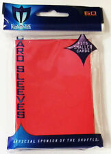 250 Max Protection Deck Guards Flat Red Small / Yugioh Size Gaming Card Sleeves