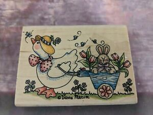 """Stampassions Rubber Stamps wood mounted 2001 """"a just ducky ride"""""""
