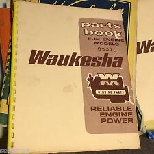 Waukesha motor company genuine Parts list 195G series. 54 pages. vintage