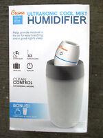 Crane Ultrasonic Cool Mist Mini Travel Humidifier - White - EE-5950 - FAST SHIP