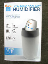 Crane Ultrasonic Cool Mist Mini Travel Humidifier - White - EE-5950 - FAST SHIP