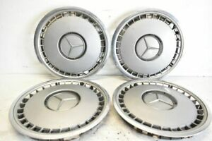 Hub Caps 4 x Original Mercedes Benz 16 Inch Chrome Rim 1404010024