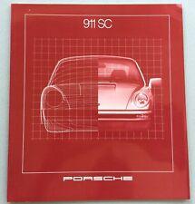 Porsche brochure, 911SC, 1980-1981, and 911SC Specifications folder