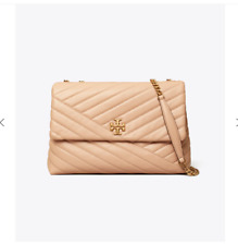 Tory Burch Kira Chevron Convertible Shoulder Bag - Brand New - Devon Sand