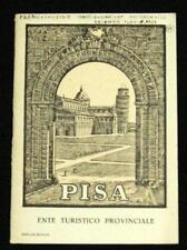 PISA ITALY ITALIA SOUVENIR TOURISM INFORMATIONAL BROCHURE GUIDE 1931 VINTAGE