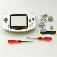 Gold Picachu Housing Shell Pack for Nintendo Gameboy Advance GBA Repair -White