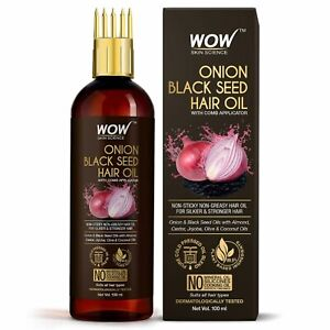 WOW Skin Science Onion Oil Black Seed Hair Oil 100 ml  Free & Fast shipping