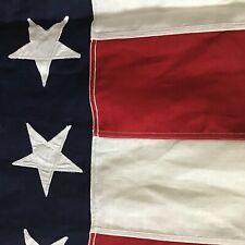 Ww2 Era 48 Star American U.S. Flag 5'x9.5' Stiched Stars Stripes Nos Linen