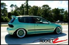 92-95 Honda Civic JDM Bomex BX style Hatchback Roof Wing Spoiler FRP CAN USA
