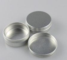 Aluminum Cosmetic Tin Containers Round Aluminum Makeup Cans with Screw Lid