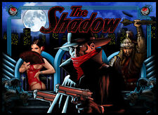 The Shadow Pinball Alternate Translite (2 versions) plus decals
