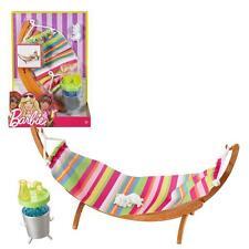 Barbie - Outdoor Furniture - Hammock Set & Accessories