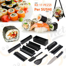 KIT FARE SUSHI MAKER VARIE FORME COLTELLO ACCESSORI ARROTOLARE STAMPINI TAGLIA