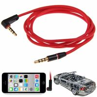 3.5mm 4Pole Male to Male Record Car Aux Audio Cord Headphone Connect Cable Cord