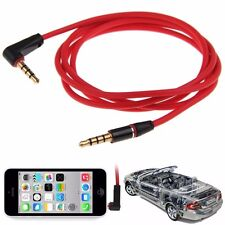 3.5mm 4Pole Male-to-Male Record Car Aux Audio Cord Headphone Connect Cable Cords