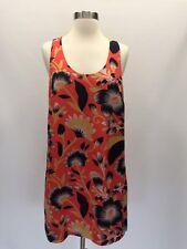J Crew Petite Twist Back Silk Dress Hibiscus Floral Size 8P Sample Item