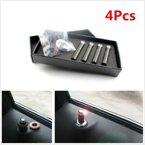4 Pcs Carbon Fibre Car Truck SUV Interior Door Lock Knob Pins Handles Universal