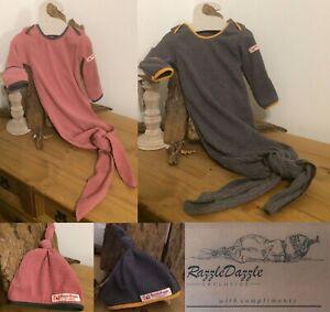 Newborn Baby Sleeping Bag Sleep Sack Suit Babygrow Knotted Gown Swaddle wrap UK