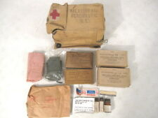 Vietnam US Aeronautic First Aid Kit in Canvas Carry Pouch Complete w/Supplies #2