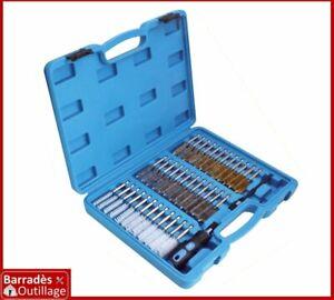 Coffret brosses pour nettoyage de siège, puits d'injecteurs, bougies - 38 pcs