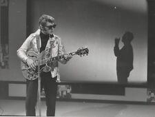 """Johnny HALLYDAY & Albert RAISNER"" Photo presse originale P.LELIEVRE 24x18cm"