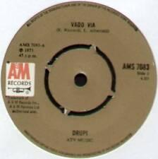 """DRUPI ~ VADO VIA / UN LETTO E.LEI ~ 1973 UK 7"""" SINGLE ~ A&M RECORDS AMS 7083"""