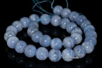 """6MM CHALCEDONY BLUE LACE AGATE GEMSTONE A BLUE ROUND 6MM LOOSE BEADS 15.5"""""""