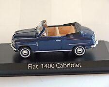 FIAT 1400 Convertible, azul, 1:43 , NOREV