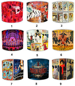 Moulin Rouge Designs Lampshades, Ideal To Match Moulin Rouge Cushions & Covers